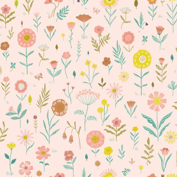 Tissu Coton Popeline Botanist flowers