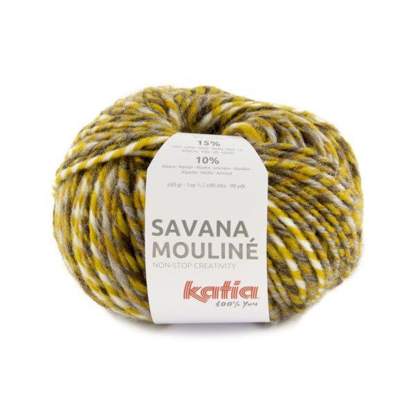 Savana Mouliné pelote de laine multicolore